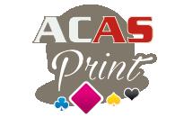 ACAS Print, identité visuelle, logo, travaux d'impression, signalétique, bâches, objets de communication